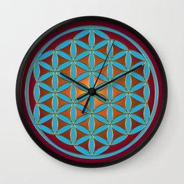 Flower of Life - Fire Wall Clock