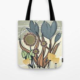Vintage Retro Garden Tote Bag