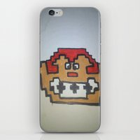 donkey kong iPhone & iPod Skins featuring Retro Donkey Kong by RaieshaM