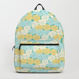 Hana Poppies - Yellow and Teal Backpack