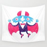 bat Wall Tapestries featuring Bat by David Fernández Huerta