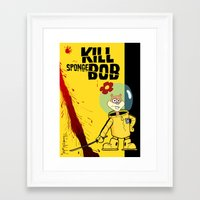spongebob Framed Art Prints featuring Kill Spongebob by thunderbloke!