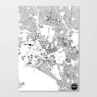 melbourne Canvas Prints featuring MELBOURNE by Maps Factory