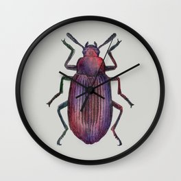 Watercolour Beetle 2/3 Wall Clock