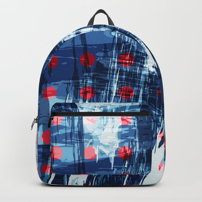 dots on blue ice Backpack
