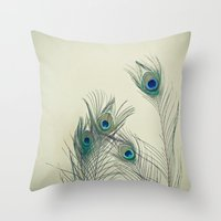 cassia beck Throw Pillows featuring All Eyes Are on You by Cassia Beck
