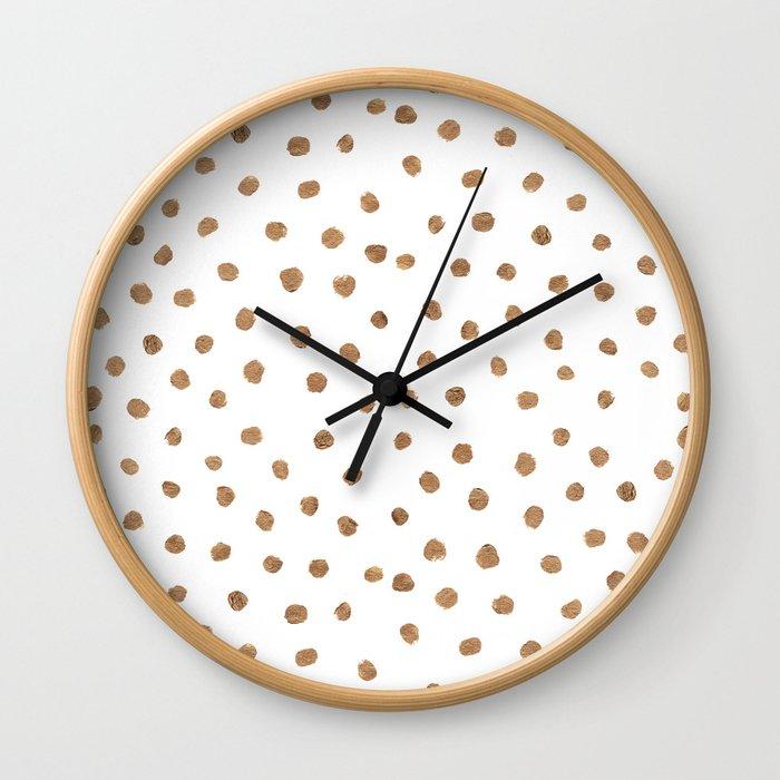 Goldie Dots Wall Clock