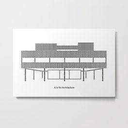 Corbu - A is for Architecture Metal Print