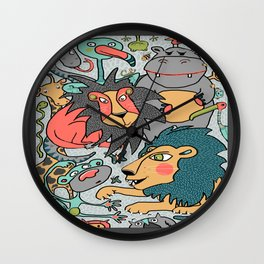 animals are cool Wall Clock