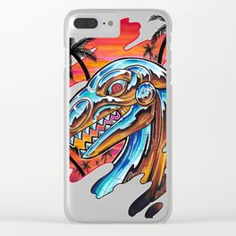 Robot Dino Clear iPhone Case