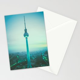 TV tower in Berlin Stationery Cards