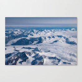 Aerial Glacier Four - Alaska Canvas Print