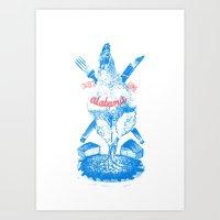 alabama Art Prints featuring Alabama by Sleepwalkers