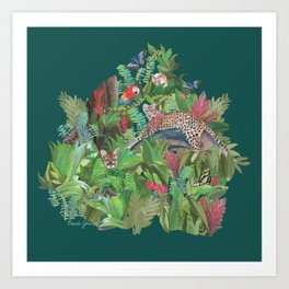 Into the Wild Emerald Forest Art Print