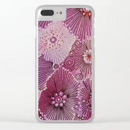 Paint Me Pink Clear iPhone Case