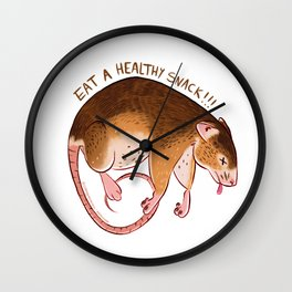 Snack Rat Wall Clock