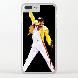 Mercury Illustration Rock and Roll Music Icon Queen Pop Art Home Decor Clear iPhone Case