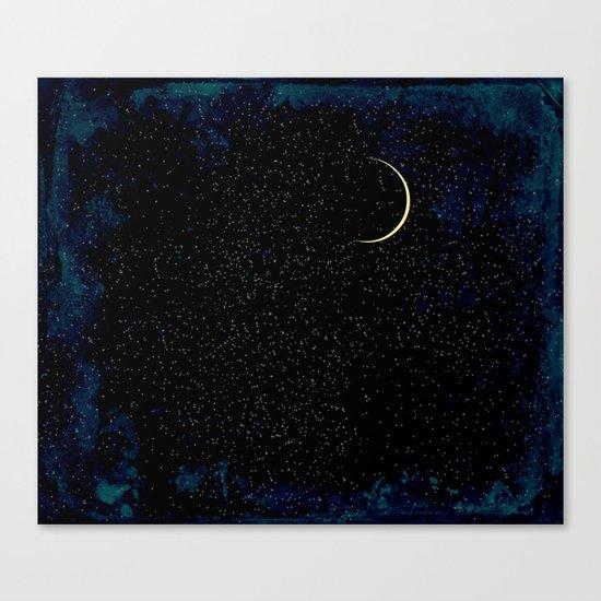 Crescent Moon Canvas Print