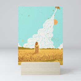 ROCKET LAUNCH Mini Art Print
