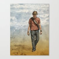 charlie Canvas Prints featuring Charlie by Jackie Sullivan