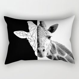 Split giraffe Rectangular Pillow