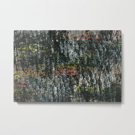 Here & There Abstact Painting - Dark with Pops of Color Metal Print