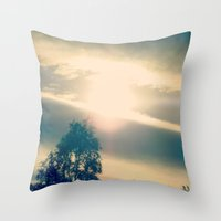 the shining Throw Pillows featuring Shining by Eirin Wie Haveland