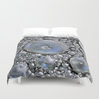 silver Duvet Covers featuring Silver by Imagevixen