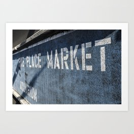 Pike Place This Way Art Print