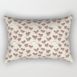 A Cranky Flock Rectangular Pillow