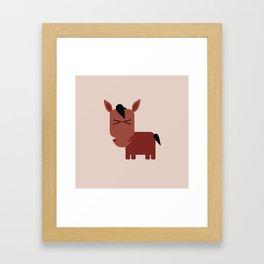 little horse Framed Art Print