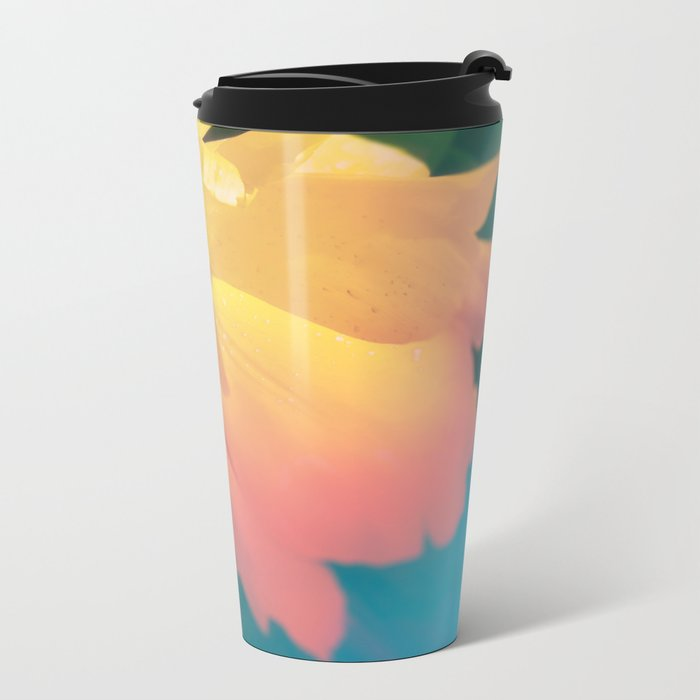 Electric Flower Metal Travel Mug