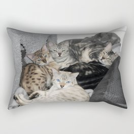 Bengal Cat Kitty Pile  Rectangular Pillow