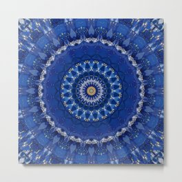 Mandala star dust Metal Print