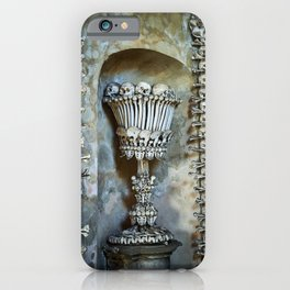 Sedlec Ossuary Chalice Photo Art, Skull Bone Church iPhone Case