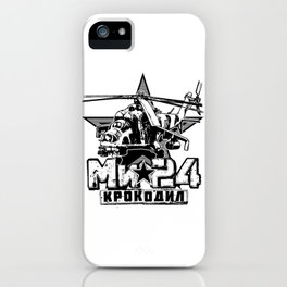 Mi-24 Soviet large helicopter iPhone Case