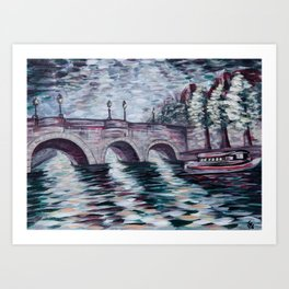 Pont Neuf - Paris, France - Acrylic painting Art Print