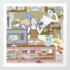 Living together Art Print