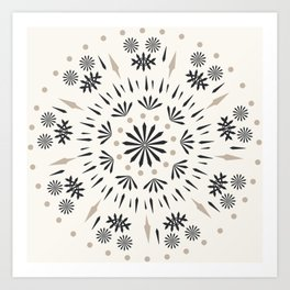 Snowflakes Scandic Nordic Art Print
