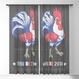The French Coq   World Cup 2018 Sheer Curtain