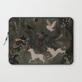 Spooky Forest with Ghosts Laptop Sleeve