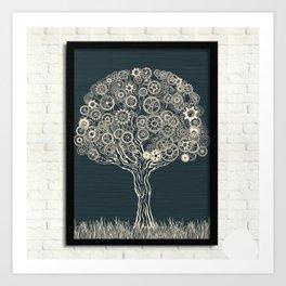 Gear Tree Art Print