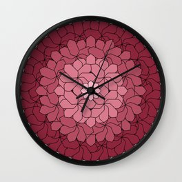 Misty Bouquet Wall Clock