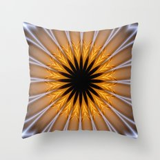 Golden Brown with a Twist Throw Pillow