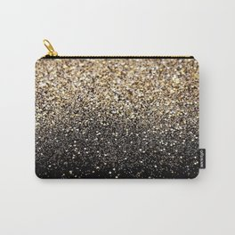 Black & Gold Sparkle Carry-All Pouch