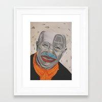 dad Framed Art Prints featuring dad by ferzan aktas