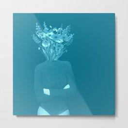 Flower Head - Ocean Metal Print