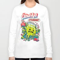 old Long Sleeve T-shirts featuring CTHUL-AID by BeastWreck