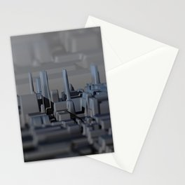 Urban technology buildings space aerial view Stationery Cards