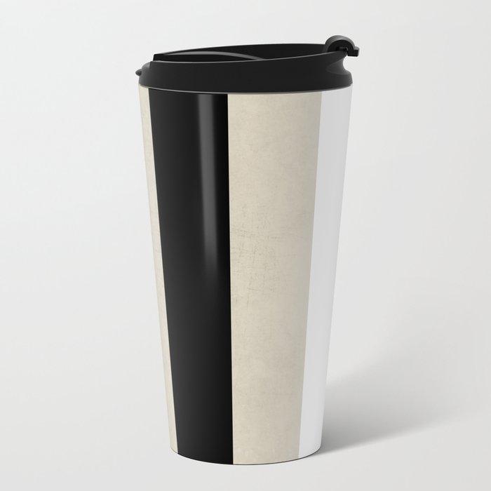 vintage black stripes Travel Mug